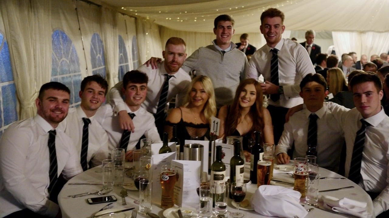 Recent leavers at an Annual Reunion Dinner